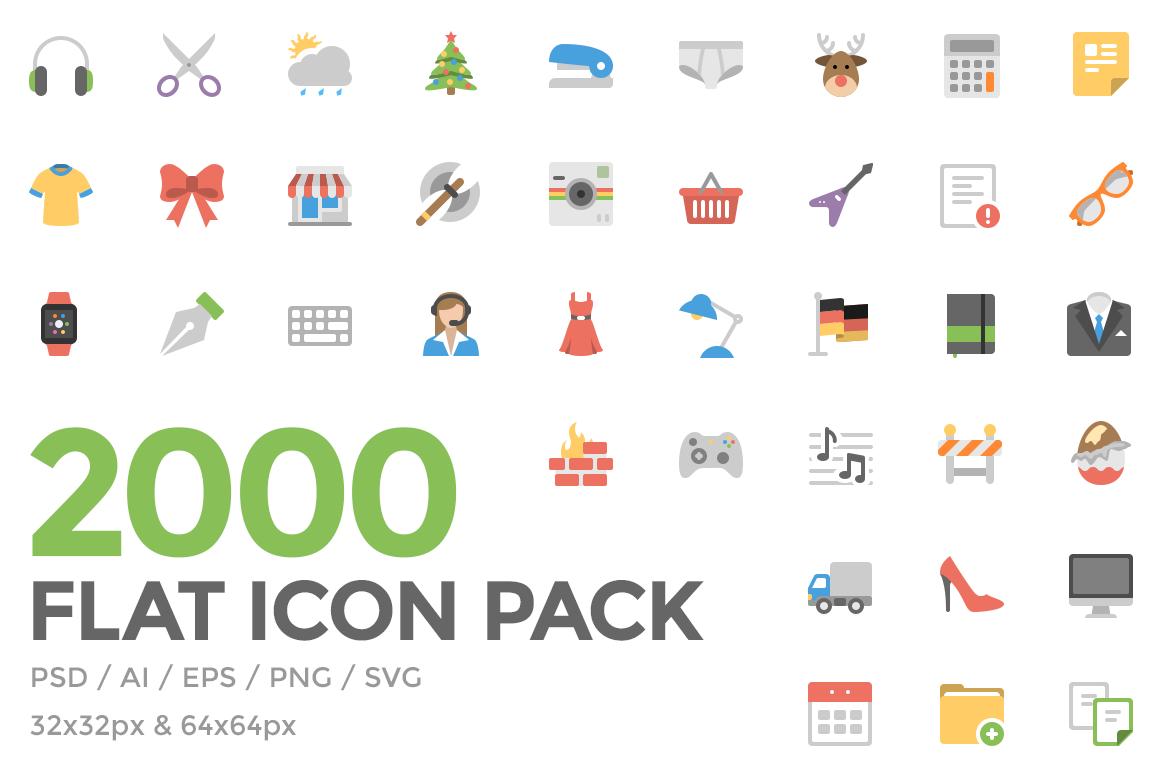 Free 50 Flat Icon Pack - Squid Ink: thesquid.ink/free-icons