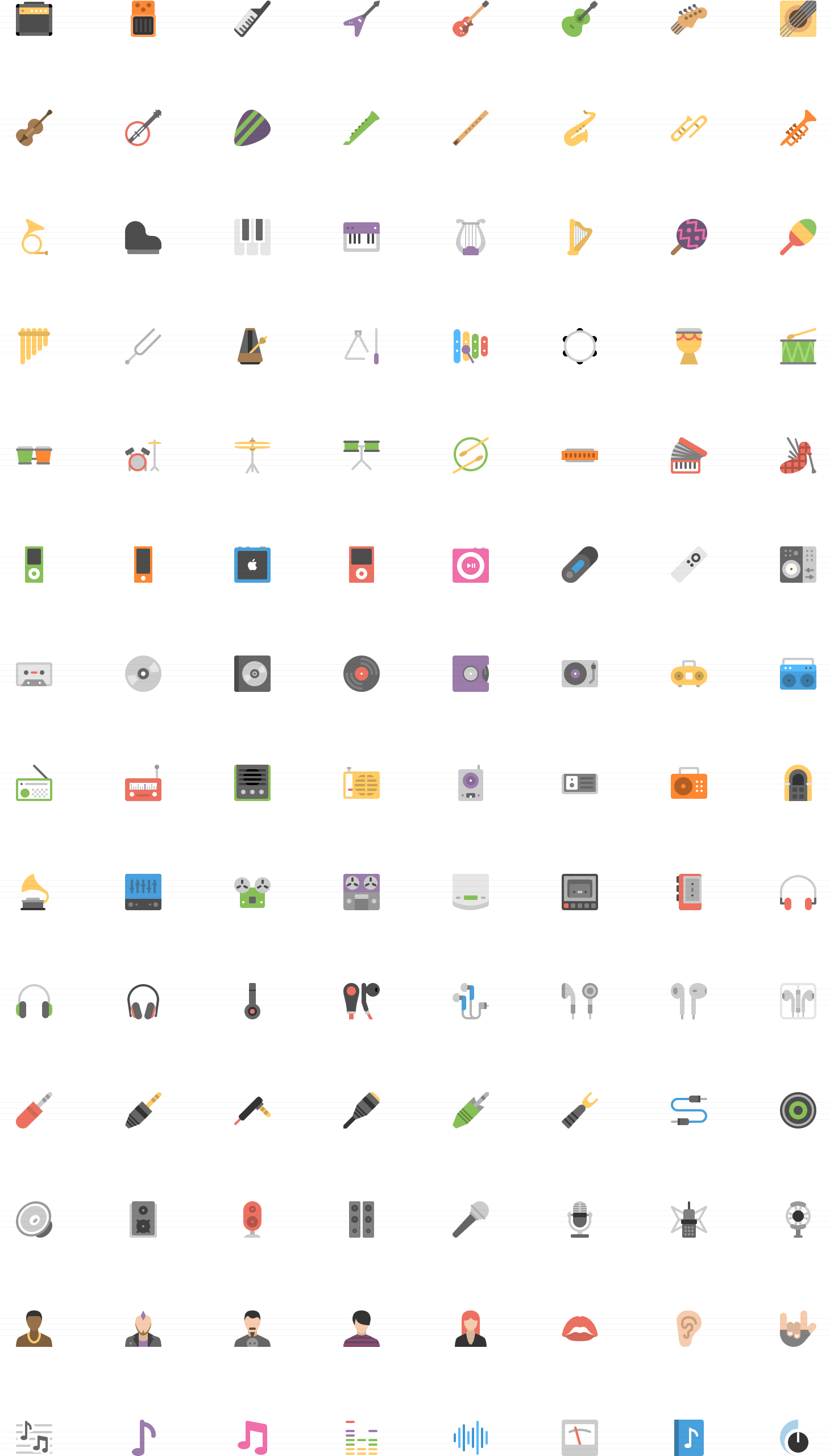 Audio Flat icons