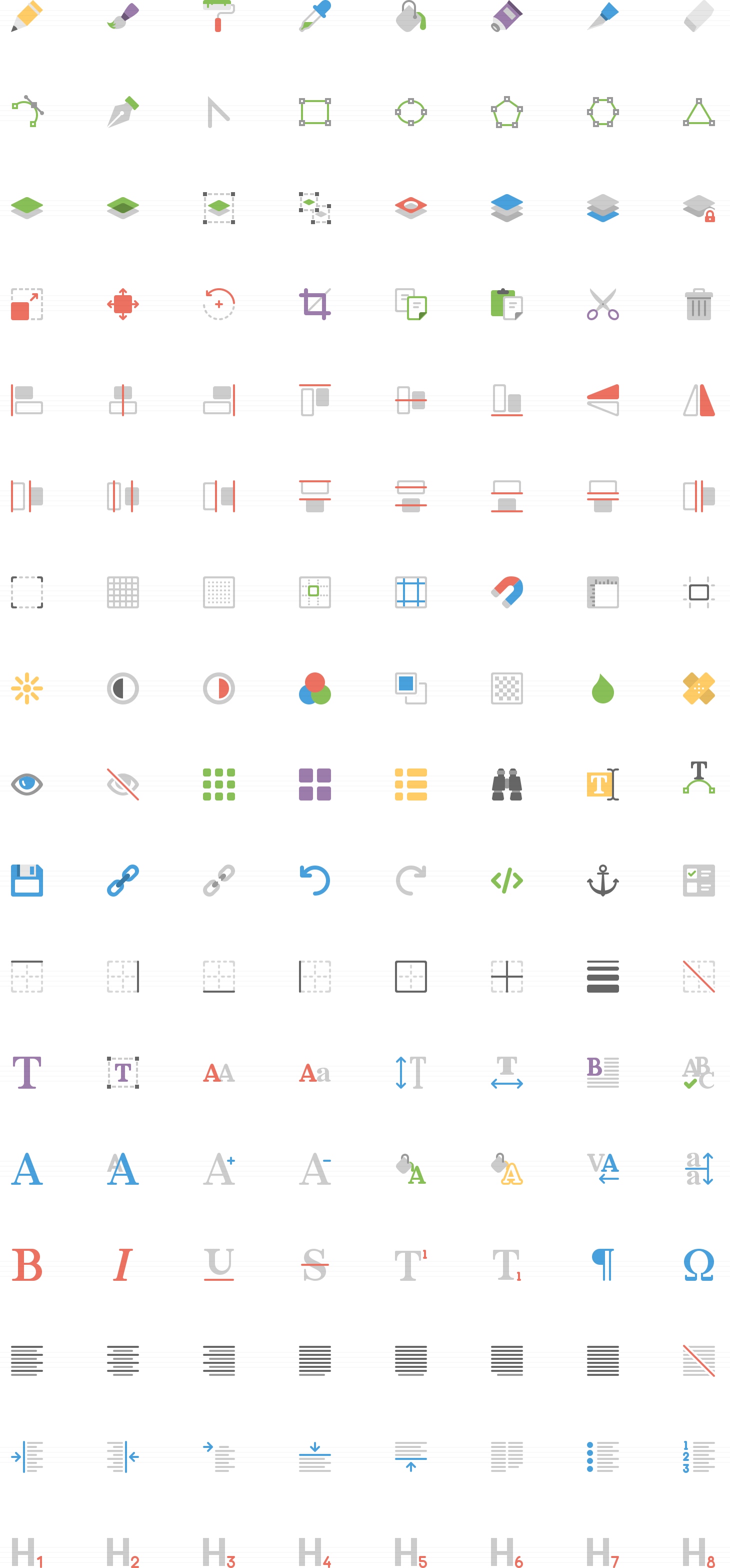Squid Ink Professional Web Icons » 2,000 Flat Icons