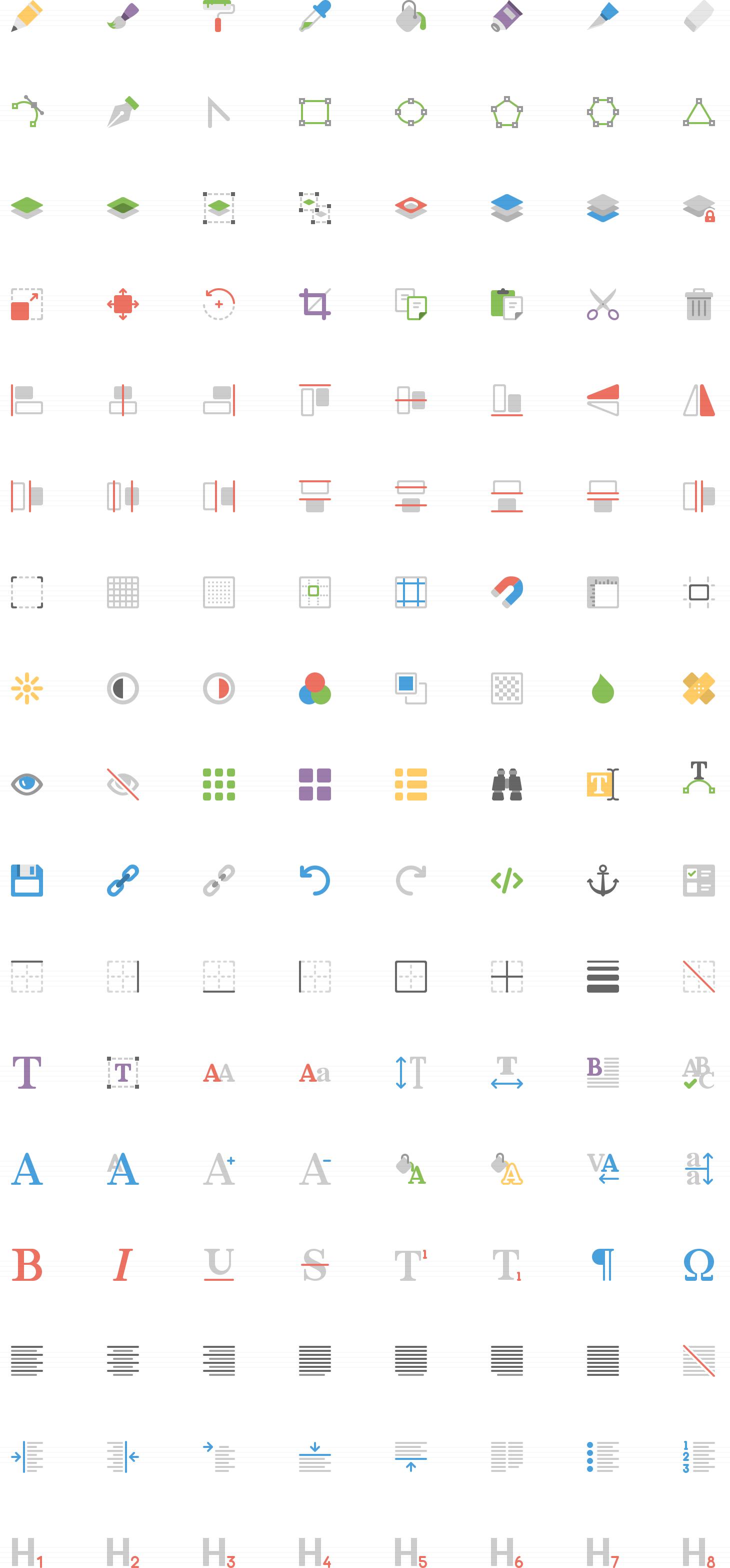 Editing Flat Icons