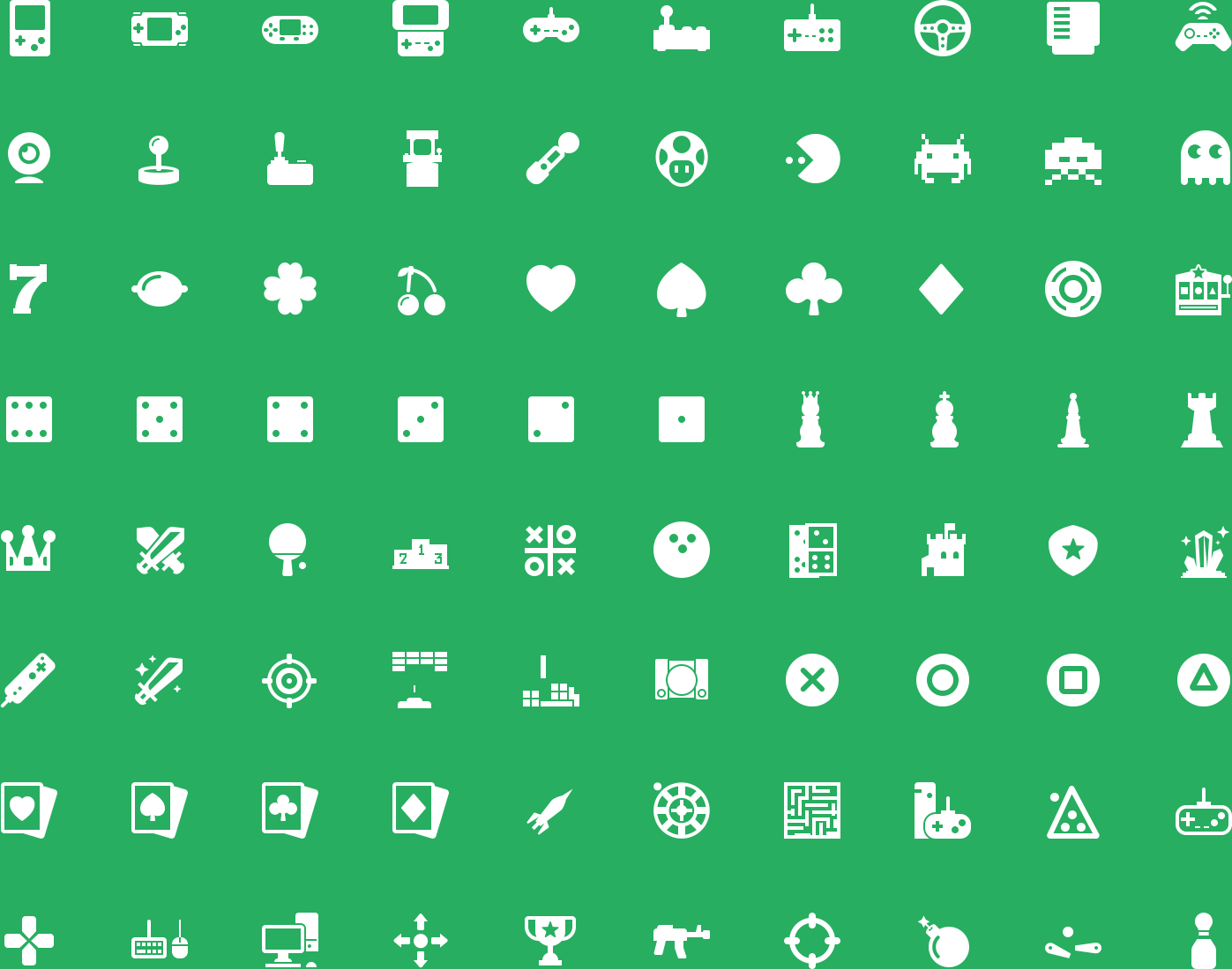 Gaming Glyph Icons