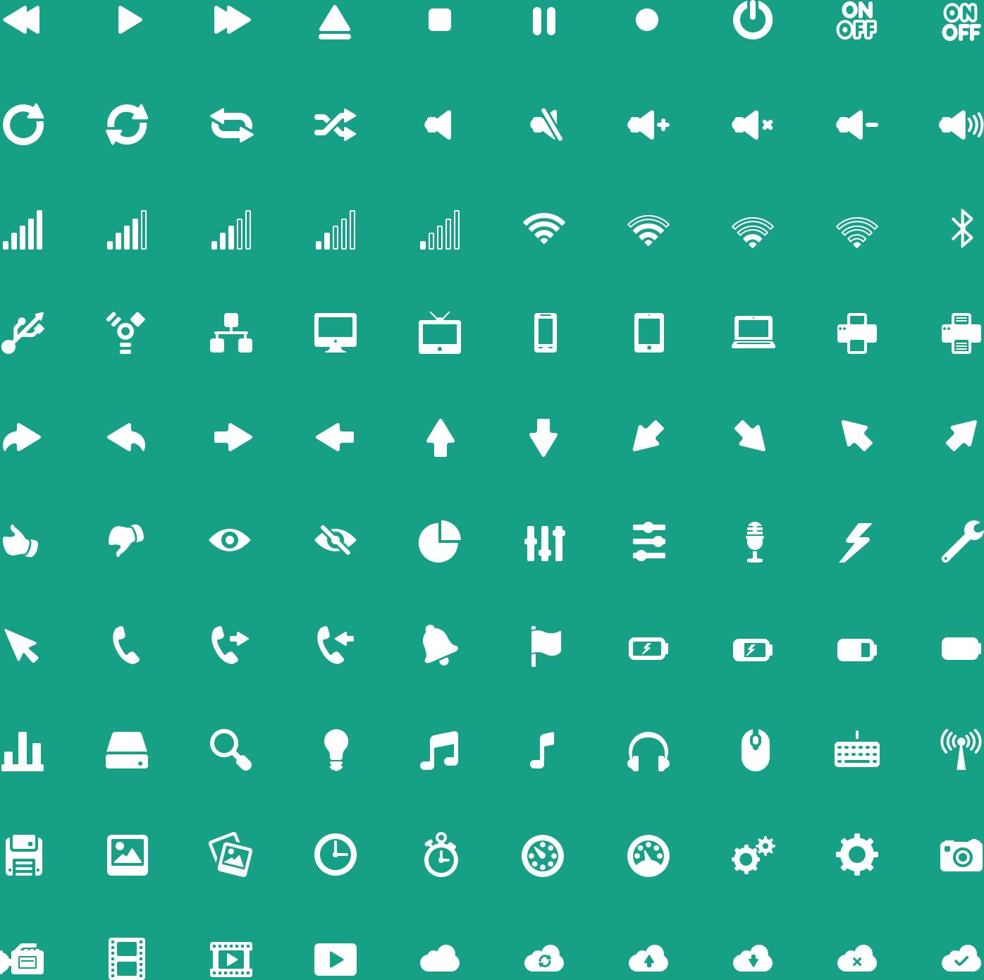 Media Glyph Icons